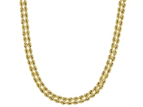 14K Yellow Gold Diamond-Cut Cuore Rope Chain