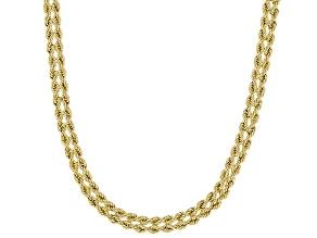 14K Yellow Gold Diamond-Cut Cuore Rope Chain