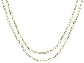 14K Yellow Gold Set of Two 1MM Piccola Rolo Chains
