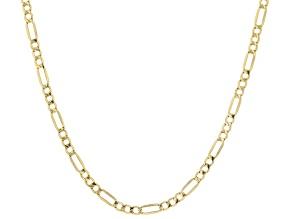 18K Yellow Gold 2.5MM Figaro Chain