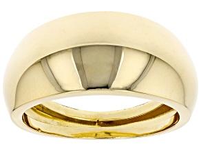 18K Yellow Gold 10.4MM High Polish Dome Ring