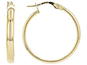 18K Yellow Gold 3x20MM Giotto Tube Hoop Earrings