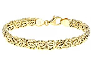 14K Yellow Gold Byzantine Link Bracelet