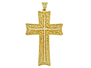 14K Yellow Gold Florence Tessuti Cross