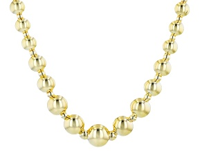 14K Yellow Gold 9MM-2.5MM Graduated Bead Necklace