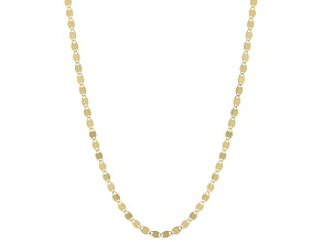 14K Yellow Gold 2.8MM Mirror Link Chain