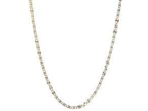 14K Yellow Gold and 14K White Gold Over 14K Yellow Gold 2.5MM Starburst Chain