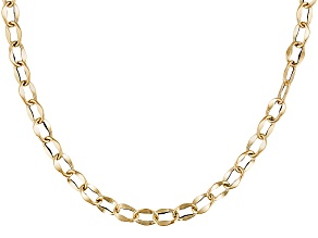 14k Yellow Gold Hollow Chain 3mm