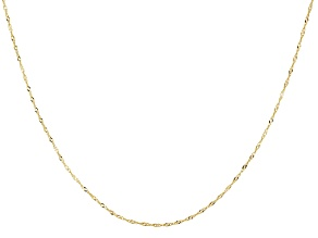 14k Yellow Gold Singapore Link Chain Necklace 24 inch
