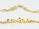 14k Yellow Gold Singapore Link Necklace 24 inch