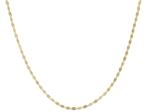 14k Yellow Gold Polished Flat Cable Sliding Adjustable Chain Necklace