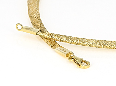 350ec2e0a75d8 14k Yellow Gold Graduated Mesh Omega Necklace 20 inch