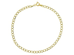 14k Yellow Gold Hollow Curb Bracelet 7.5 inch