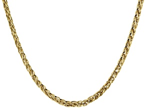 14K Yellow Gold Spiga Link 20 In Necklace