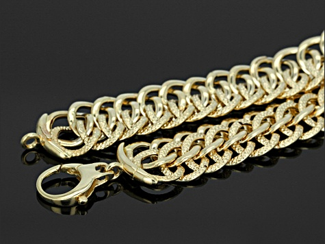 14k yellow gold hollow rolo link bracelet 7.5 inch