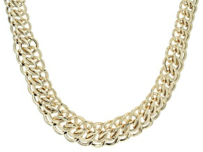 14k yellow gold hollow graduated rolo link necklace 18 inch