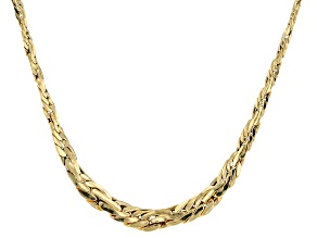 14k Yellow Gold Hollow Graduated Rope Link Necklace 20 inch