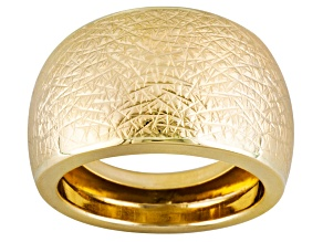 14k Yellow Gold Textured Dome Ring