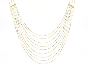 14k Yellow Gold Multi-Strand Necklace 18 inch