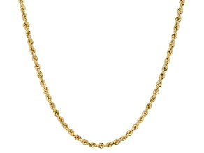 14k Yellow Gold Hollow Rope Link Chain Necklace 20 inch