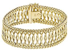 14k Yellow Gold Hollow Multi-Link Bracelet 7 3/4 inch