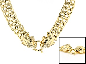 14k Yellow Gold Artformed infinity Link Necklace 18 inch