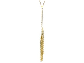 14k Yellow Gold Tassel Necklace 20 inch