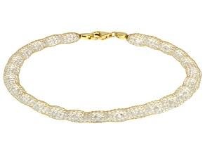31.91ctw Cubic Zirconia 14k Yellow Gold Bracelet 7.5 inch