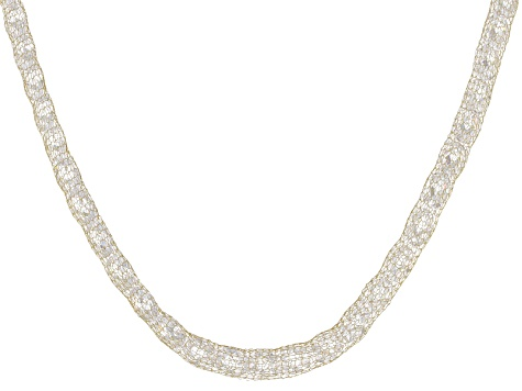 80.85ctw Cubic Zirconia 14k Yellow Gold Necklace 18 inch