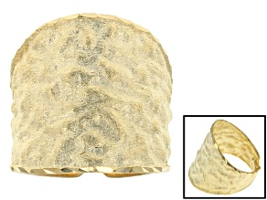 14k Yellow Gold Textured Ring