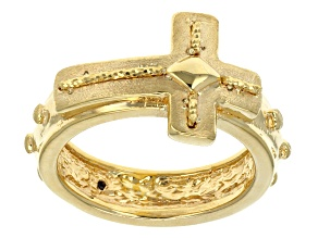 14k Yellow Gold Artformed Cross Ring