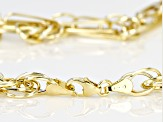 14k Yellow Gold Hollow Figaro Rope Link Necklace 24 inch 5mm