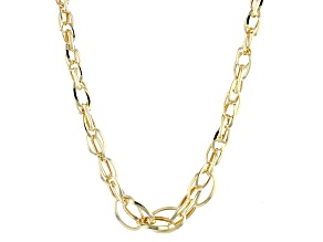 14k Yellow Gold Oval Link Necklace 20 inch