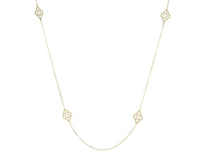 14k Yellow Gold Station Necklace 22 inch
