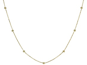 14k Yellow Gold Bead Station Necklace 20 inch