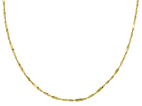 14k Yellow Gold Station Sliding Adjustable Neckace 24 inch