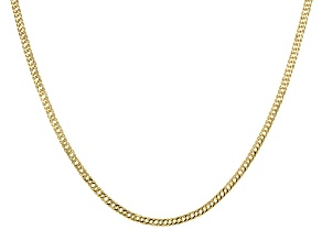 14k Yellow Gold Curb Link Chain Necklace 18 inch