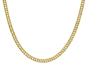 14k Yellow Gold Curb Link Chain Necklace 20 inch