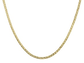 14k Yellow Gold Curb Link Chain Necklace 24 inch