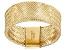 14k Yellow Gold Mesh Link Band Ring