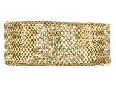14k Yellow Gold Mesh Link Band Ring