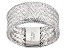 14k White Gold Mesh Link Band Ring