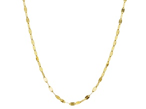 14k Yellow Gold Cable Link Chain Necklace 20 inch