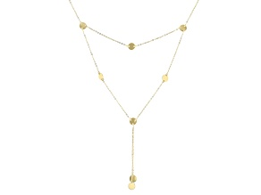 14k Yellow Gold Circle Station Necklace 18 inch