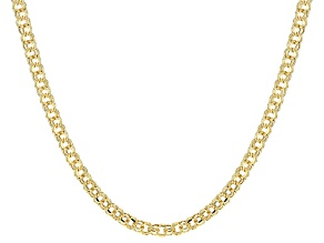 14k Yellow Gold Hollow Cable Link Necklace 20 inch