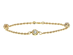 .66ctw Topaz .66ctw Amethyst .66ctw Citrine 14k Yellow Gold Bracelet 7.5 inch