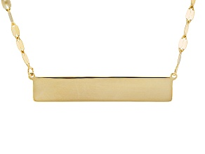 14k Yellow Gold Bar Station Necklace 18 inch