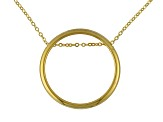 14k Yellow Gold Hollow Circle Necklace 18 inch