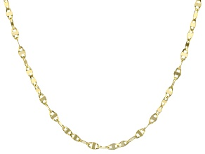 14k Yellow Gold Cable Link Necklace 20 inch
