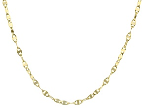 14k Yellow Gold Cable Link Necklace 24 inch